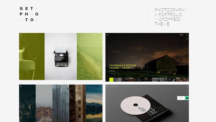 GetPhoto Photography Portfolio WordPress Theme