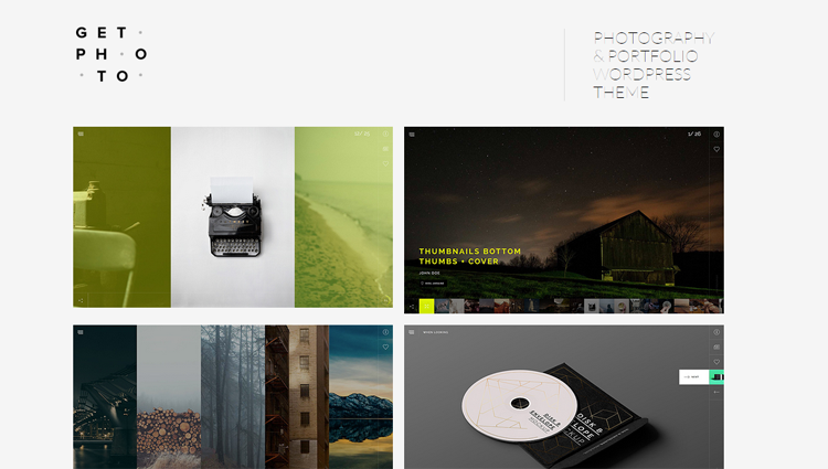 GetPhoto Photography Portfolio WordPress Theme